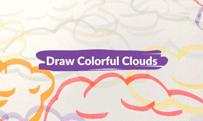 Draw colorful clouds