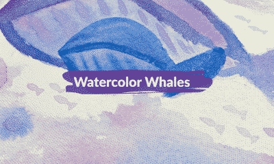 Watercolor Whales